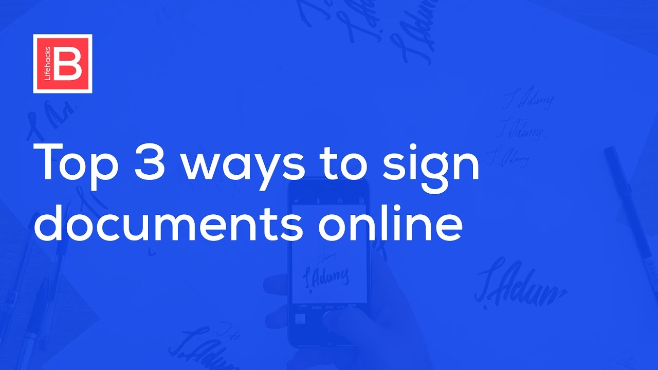 how to add signature to online application