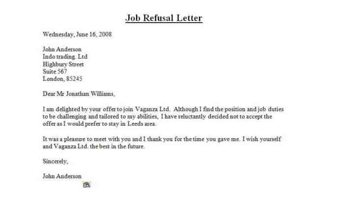 how to write a rejection letter for a job applicant
