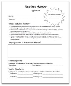 student council application middle school