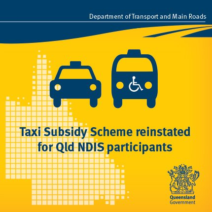 taxi subsidy scheme application qld