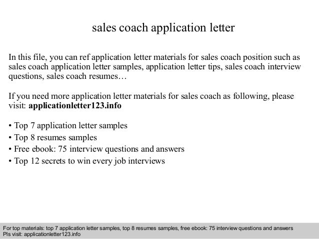 how to do application letter