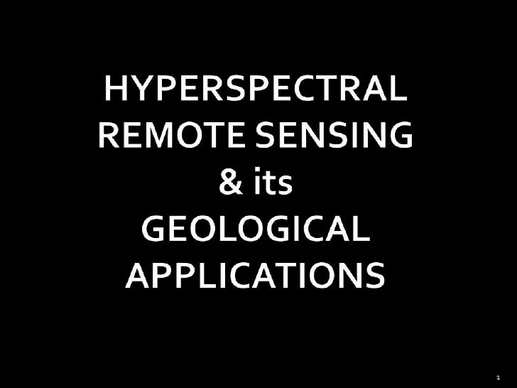 application of remote sensing and gis in geology