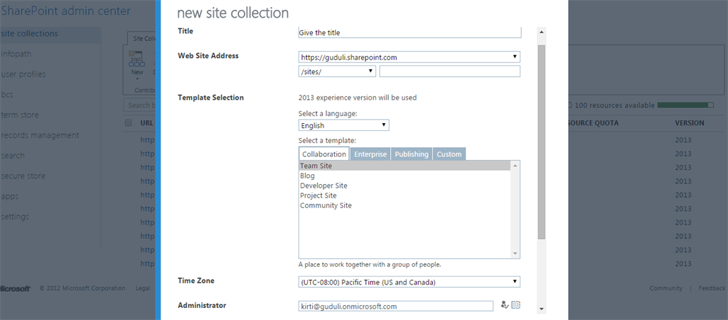 difference between web application and site collection in sharepoint