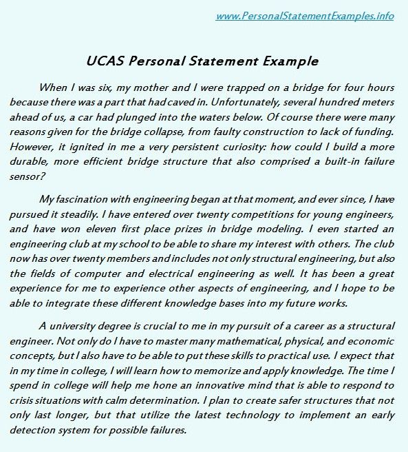 what to include in a personal statement for university application